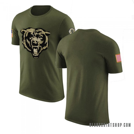 Men's Blank Chicago Bears Olive Salute to Service Legend T-Shirt