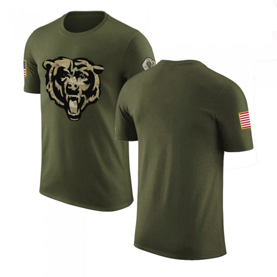 Youth Blank Chicago Bears Olive Salute to Service Legend T-Shirt
