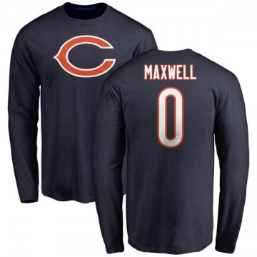 Youth Napoleon Maxwell Chicago Bears Name & Number Logo Long Sleeve T-Shirt - Navy