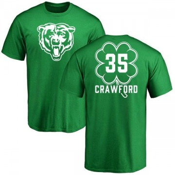 Youth Xavier Crawford Chicago Bears Green St. Patrick's Day Name & Number T-Shirt